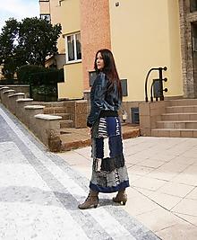 Sukne - lel sukňa modrá maxi 15 - 9938780_