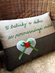 """Úžitkový textil - """"milý vankúšik"""" - 9940569_"""