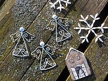 Dekorácie - anjelikovia z truhlice starej mamy...vintage (Biela) - 9940651_