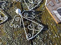 Dekorácie - anjelikovia z truhlice starej mamy...vintage (Biela) - 9940652_