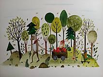 Obrazy - Zajačica v lese  ilustrácia / originál maľba  - 9939678_