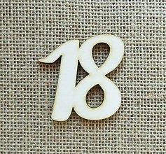 Polotovary - Výrez z preglejky - 18 - jubileum - 6 cm - 9939242_