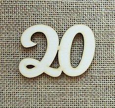 Polotovary - Výrez z preglejky - 20 - jubileum - 8,5 cm - 9939282_