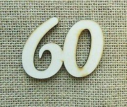 Polotovary - Výrez z preglejky - 60 - jubileum - 8 cm - 9939358_