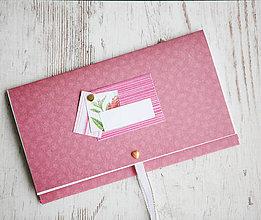 Papiernictvo - Scrapbook obálka na peniaze - červená - 9939625_