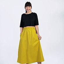 Sukne - Dlhá sukňa Yellow - 9941561_