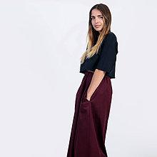 Sukne - Dlhá sukňa Bordo - 9941581_