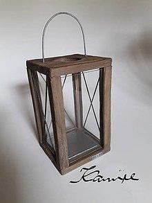 Svietidlá a sviečky - Lampáš Nordic style tmavý - 9939065_