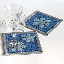 Úžitkový textil - Podložky pod hrnky či skleničky, zimní až vánoční - 9941341_