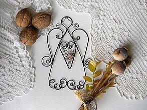 Dekorácie - Andílek s kamínkem - 9939935_