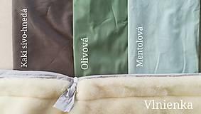 Textil - RUNO SHOP fusak pre deti do kočíka 100% ovčie runo MERINO TOP super wash ELEGANT royal blue / olive green/ mint/ petrol green - 9941392_