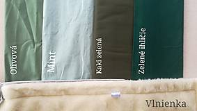 Textil - RUNO SHOP fusak pre deti do kočíka 100% ovčie runo MERINO TOP super wash ELEGANT royal blue / olive green/ mint/ petrol green - 9941394_