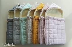 Textil - RUNO SHOP fusak pre deti do kočíka 100% ovčie runo MERINO TOP super wash ELEGANT royal blue / olive green/ mint/ petrol green - 9941396_