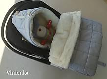 Textil - RUNO SHOP fusak pre deti do kočíka 100% ovčie runo MERINO TOP super wash ELEGANT royal blue / olive green/ mint/ petrol green - 9941403_