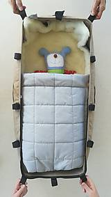 Textil - RUNO SHOP fusak pre deti do kočíka 100% ovčie runo MERINO TOP super wash ELEGANT royal blue / olive green/ mint/ petrol green - 9941410_