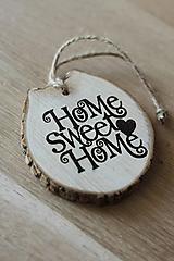 Dekorácie - Drevený nápis Home sweet home - 9940655_