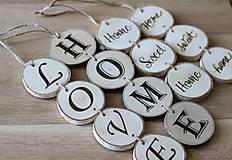 Dekorácie - Drevený nápis HOME a LOVE - 9940786_
