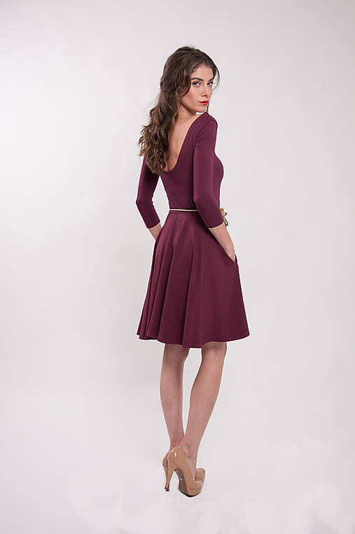 eac108625b9c Bambusové šaty bordové Merlot   CHICLovely - SAShE.sk - Handmade Šaty