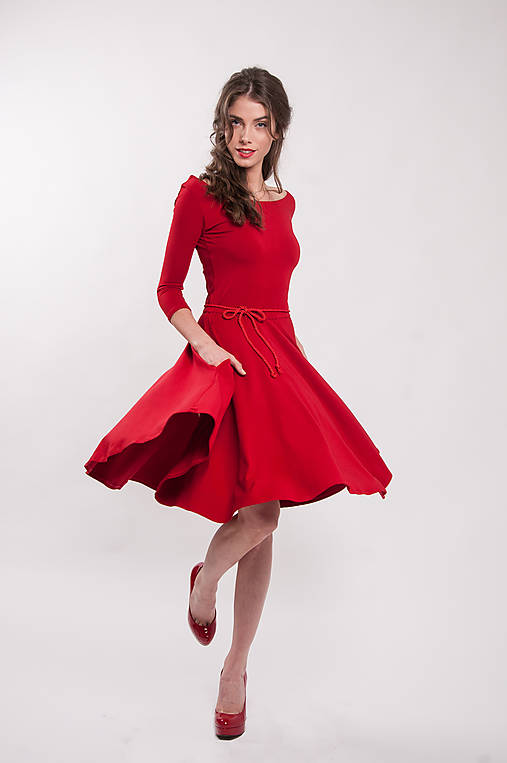 Šaty - Bambusové červené šaty Karkulka - 9941009_
