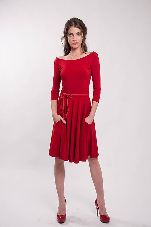2dfe6b877d91 Bambusové červené šaty Karkulka   CHICLovely - SAShE.sk - Handmade Šaty