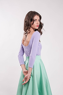 Tričká - Bambusový top s výstrihom fialový Purple (L) - 9941211_