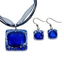 Sady šperkov - Súprava sklenených šperkov tmavomodrá PARIS - 0301 - 9941835_