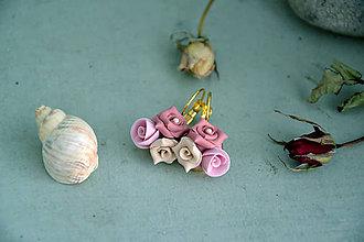 Náušnice - náušnice, fimo, ruže - 9939126_