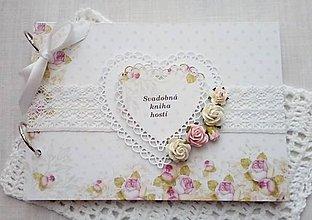 Papiernictvo - svadobná kniha hostí A5 - 9939271_