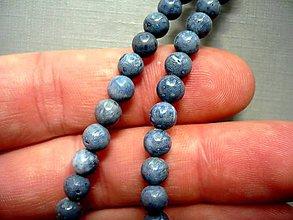Minerály - Vrt. korálky - modrý korál 6 mm, 2 ks - 9942301_
