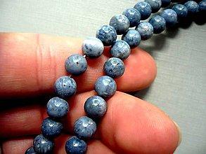 Minerály - Vrt. korálky - modrý korál 8 mm, 2 ks - 9942320_