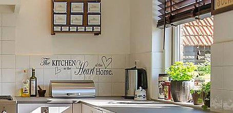 Dekorácie - Nálepky na stenu - Srdce kuchyne (Čierna) - 9940069_