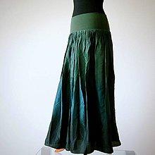 Sukne - Komu se nelení...dlouhá hedvábná sukně na přání - 9939447_