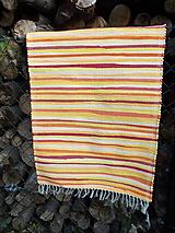 Úžitkový textil - žltý koberček - 9944560_