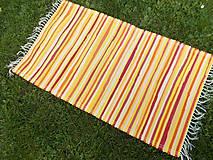 Úžitkový textil - žltý koberček - 9944561_