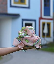 Šály - Veľký hodvábny pléd inšpirovaný Hundertwasserom. - 9945361_
