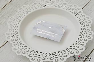 Papiernictvo - Pozvanie k svadobnému stolu Mramorová láska - 9945340_