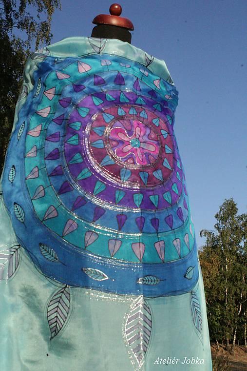 Hedvábný šátek V kruhu   jobka - SAShE.sk - Handmade Šatky e3d036ef4e