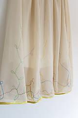 Sukne - Žltá vyšívaná šifónová sukňa - 9942462_