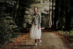 Sukne - Žltá vyšívaná šifónová sukňa - 9942466_