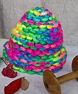 Detské čiapky - Farebné duo - 9943461_