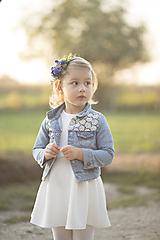 Ozdoby do vlasov - Detská kvetinová čelenka modrá - 9945104_