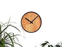 Hodiny - Marc Mini Round Clock - Dubové hodiny - 9945408_