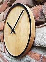 Hodiny - Marc Mini Round Clock - Dubové hodiny - 9945410_