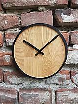 Hodiny - Marc Mini Round Clock - Dubové hodiny - 9945411_