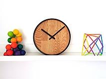 Hodiny - Marc Mini Round Clock - Dubové hodiny - 9945413_
