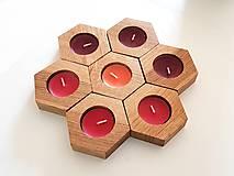 Svietidlá a sviečky - Dubový svietnik - 3ks v balení - 9945479_