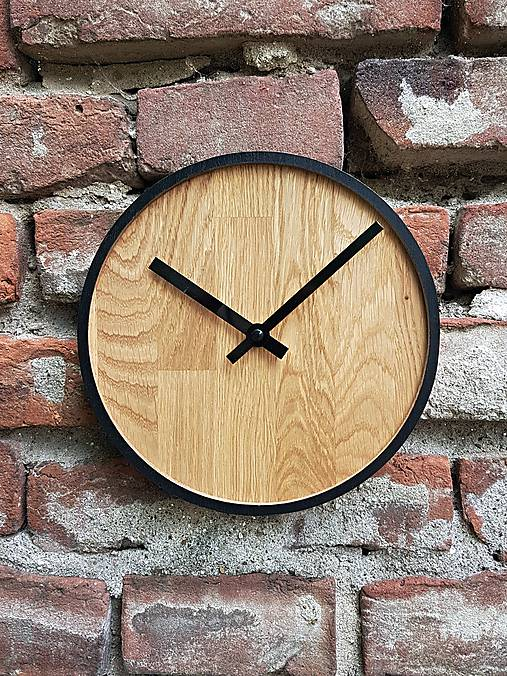 Marc Mini Round Clock - Dubové hodiny