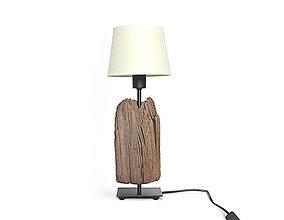 Svietidlá a sviečky - DREVENÁ LAMPA *HRANOL* - 9943570_