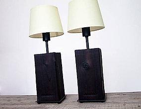 Svietidlá a sviečky - NOČNÉ LAMPY SET *OPAĽOVANÝ HRANOL* - 9943669_