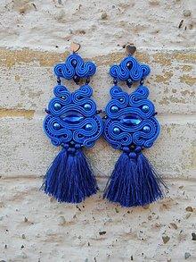 Náušnice - Lady Extravagance (Modrá) - 9944704_